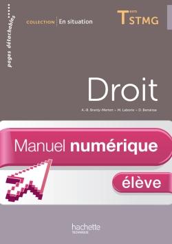 En Situation Droit Term. STMG - Manuel numérique élève simple - Ed. 2013