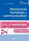 En Situation Ressources humaines et communication Term. STMG - Manuel numérique enseignant simple -