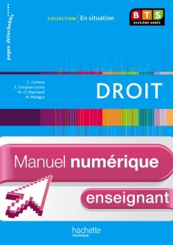 En Situation Droit BTS 2e année - Manuel numérique enseignant simple - Ed. 2013