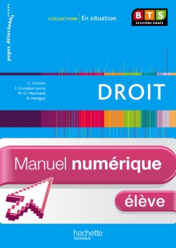 En Situation Droit BTS 2e année - Manuel numérique élève simple - Ed. 2013