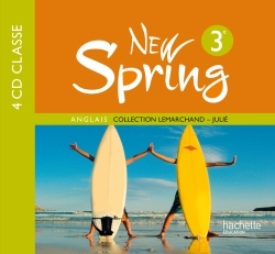 New Spring 3e LV1 - Anglais - 4 CD audio classe - Edition 2009