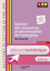 Gestion ress (A5.1-A5.2 et A6) BTS ASS PME-PMI - Manuel numérique élève simple - Ed. 2014
