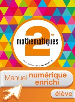 Manuel numérique Mathématiques Barbazo 2de - Licence enrichie élève - édition 2014