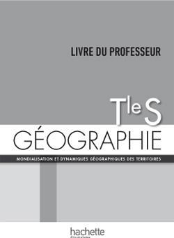 Géographie Terminale S - Livre du professeur - Edition 2014
