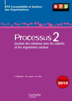 P2 Relations avec les salariés et les organismes sociaux, BTS CGO, Livre élève, éd. 2010