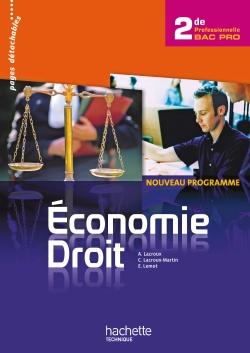 Economie Droit 2de Bac Pro - Livre élève - Ed.2010