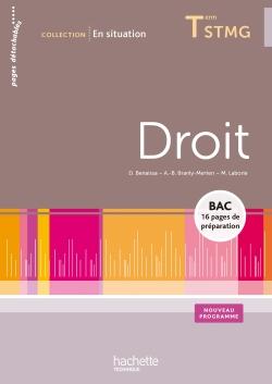 En situation Droit Terminale STMG - Livre élève - Ed. 2013