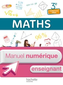 Mathématiques 3e Enseignement adapté - Manuel numérique enseignant simple - Ed. 2014