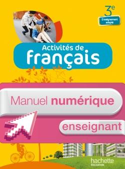Activités de Français 3e Enseignement adapté - Manuel numérique simple enseignant - Ed. 2014