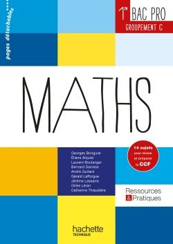 Ressources et pratiques Maths 1re Bac Pro Tertiaire (C) - Livre élève - Ed. 2014