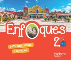 ENFOQUES - Espagnol 2de - 2 CD Audio + 1 CD-ROM Vidéo - Ed. 2015