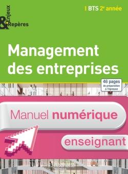 Enjeux Repères - Management entreprises BTS 2e année - Manuel numérique enseignant simple - Ed. 2015