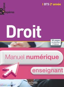 Enjeux et Repères Droit BTS 2e année - Manuel numérique enseignant simple - Ed. 2015
