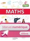 Mathématiques 4e Enseignement adapté - Manuel numérique élève simple - Ed. 2015
