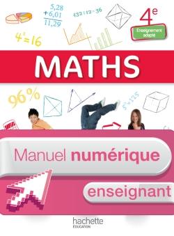 Mathématiques 4e Enseignement adapté - Manuel numérique enseignant simple - Ed. 2015