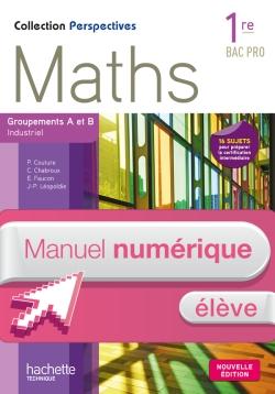 Perspectives Maths 1re Bac Pro Industriel (A et B) - Manuel numérique élève simple - Ed. 2015