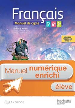 Français 5e - 4e - 3e (cycle 4) - Manuel numérique élève simple - Éd. 2016