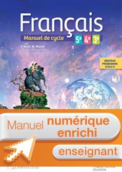 Français 5e - 4e - 3e (cycle 4) - Manuel numérique enseignant - Éd. 2016