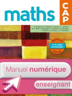 Mathématiques CAP - Manuel numérique enseignant simple - Ed. 2016