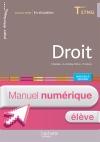 En situation Droit Terminale STMG - Manuel numérique élève simple - Éd. 2016