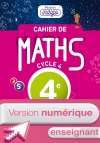 Version numérique enseignants Cahier de maths Mission Indigo cycle 4 / 4e - éd. 2017
