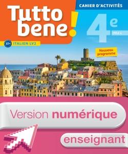 Version numérique enseignant cahier d'activités Tutto bene! italien cycle 4 / 4e LV2 - éd. 2017