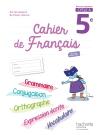 Cahier de français cycle 4 / 5e - éd. 2017