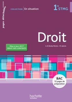 En situation Droit 1re STMG - Livre élève - Ed. 2017