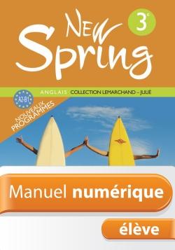 Manuel numérique Anglais New Spring 3e - Licence élève - Edition 2009