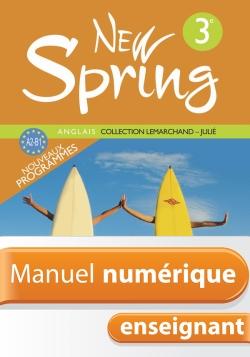 Manuel numérique Anglais New Spring 3e - Licence enseignant - Edition 2009