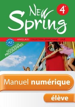 Manuel numérique Anglais New Spring 4e - Licence élève - Edition 2008
