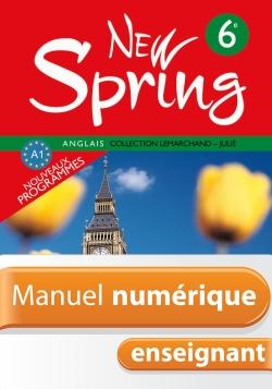 Manuel numérique New Spring 6e - Anglais - Licence enseignant - Edition 2006