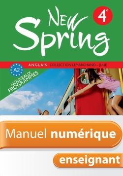 Manuel numérique New Spring 4e - Anglais - Licence enseignant - Edition 2008