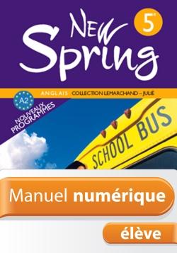 Manuel numérique Anglais New Spring 5e - Licence élève - Edition 2007