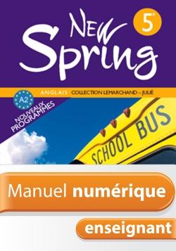 Manuel numérique New Spring 5e - Anglais - Licence enseignant - Edition 2007