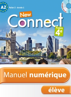 Manuel numérique anglais New Connect 4e - Licence élève - Edition 2013