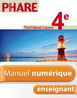 Manuel numérique Phare Mathématiques 4e - Licence enseignant - Edition 2011