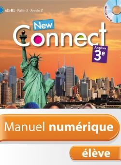 Manuel numérique anglais New Connect 3e - Licence élève - Edition 2014