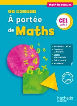 Le Nouvel A portée de maths CE1 - Manuel numérique simple élève - Ed. 2018