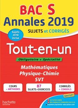 Annales Bac 2019 Tout-en-un Terminale S