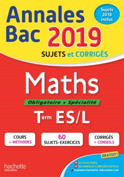 Annales Bac 2019 Maths Tles ES/L