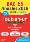 Annales Bac 2019 Tout-en-un Tle ES