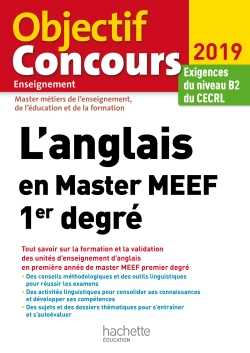 L'anglais en Master MEEF 1er degré