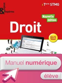 Enjeux et Repères Droit Tle STMG - Manuel numérique élève - Éd. 2018