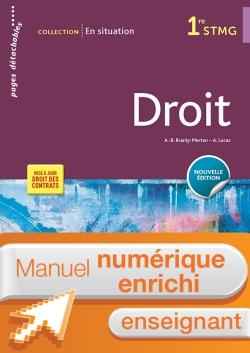En situation Droit 1re STMG - Manuel interactif enseignant - Éd. 2018