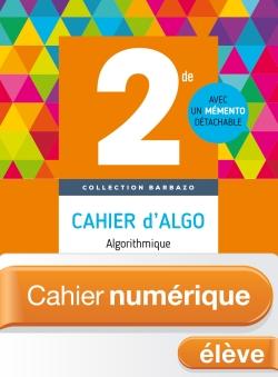 Cahier numérique Barbazo algo 2nde - Licence élève enrichie - Ed. 2018