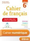 Cahier numérique de français cycle 3 / 6e - Licence élève - Ed. 2018