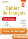 Cahier numérique de français cycle 3 / 6e - Licence enseignant - Ed. 2018