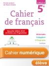 Cahier numérique de français cycle 4 / 5e - Licence élève Ed. 2018