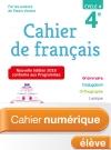 Cahier numérique de français cycle 4 / 4e - Licence élève - Ed. 2018